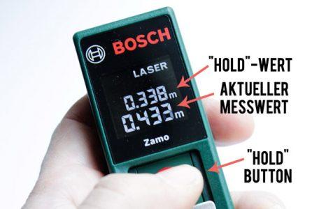 Bosch Zamo Lasermessgerät Test und Erfahrungsbericht