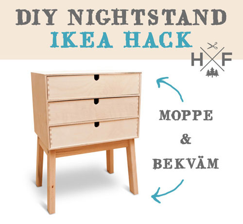 IKEA HACK - DIY nightstand with MOPPE and BEKVAM