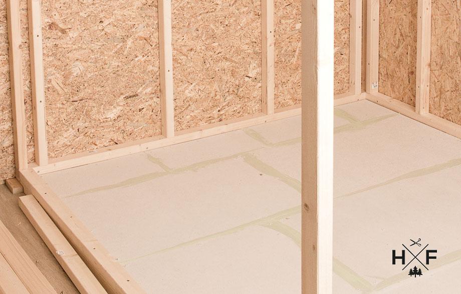 Eigenbau einer Sauna - der Bodenaufbau