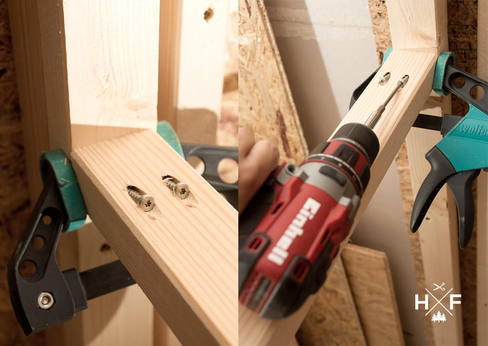 Unser Sauna Eigenbau - der Wandaufbau im Detail mit Kreg Jig System